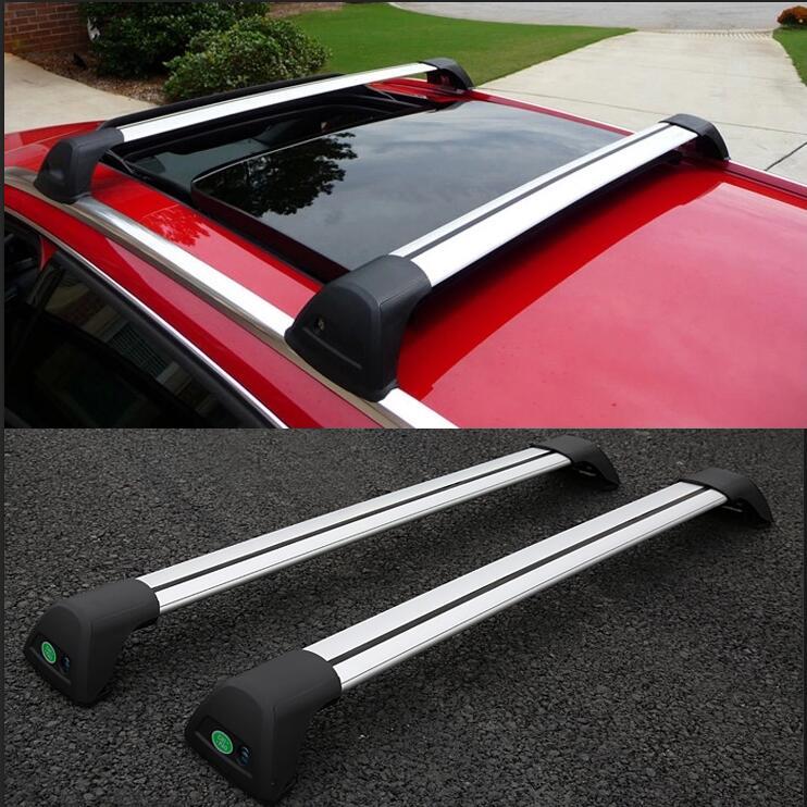 Quality Aluminum alloy Roof Rack Side Rails Bars Roof Racks a Pair case Fit For peugeot  ...