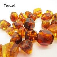 Yoowei Wholesale Natural Amber Beads Multi Faceted Diy Loose Beads Irregular Gems Baltic Polished Amber Beads