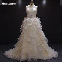 2016 A Line Sweetheart Ruffles Country Western Wedding Dress Vintage Turkey Lace Bodice Wedding Dresses Gelinlik