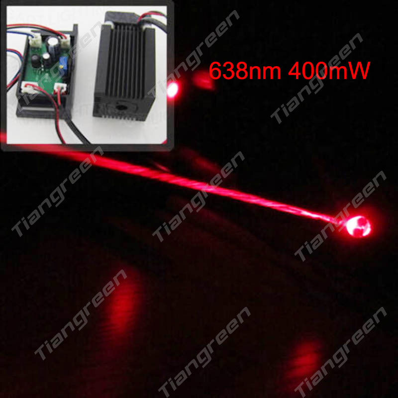 400mW 638nm DC12 Red Laser Module with TTL Drvier Board DIY RGB Stage Laser Lighting 150mw 405nm blue violet purple laser diode module 12vdc ttl stage lighting