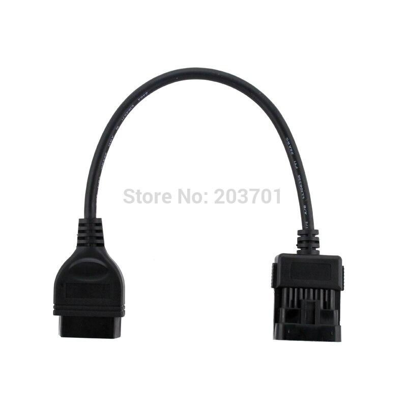 Auto Diagnose 10Pin OBD OBD2 Stecker Kabel Funktioniert Für Vauxhall/Opel OPCOM Diagnose Adapter Opel 10 Pin zu OBDII 16 Pin