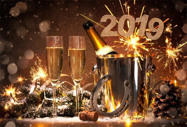 laeacco happy new year 2019 wine glasses celebration sequin photo background customized photographic backdrops for photo