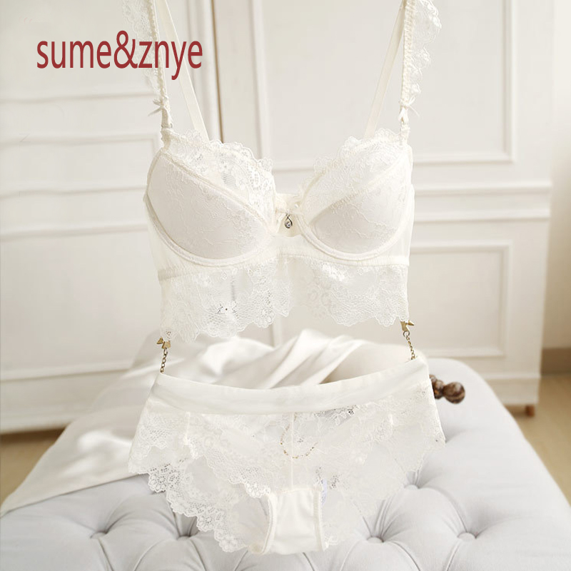 summer 2018 Underwear Women Slip Resistant Floral Lace Bra and pants Set  Side Adjustment Gather Sexy lingerie Push Up Bra Sets-in Bra   Brief Sets  from ... b0275991d
