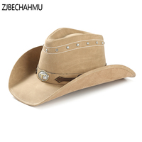 Fashion Vintage Solid Leather Fedoras Hats For Women fedora men's Leather hat fedora hat sun jazz gangster Apparel Accessories