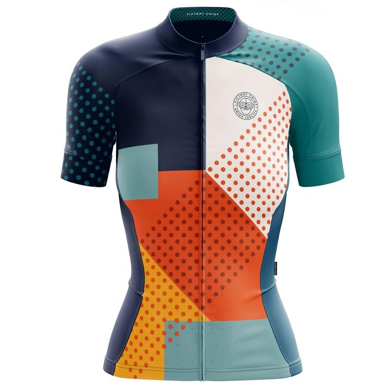 Victory C femmes cyclisme jersey 2019 nouveau cycle vêtements hauts manches courtes CoolMax vtt vetement femme couleur vive sport porter