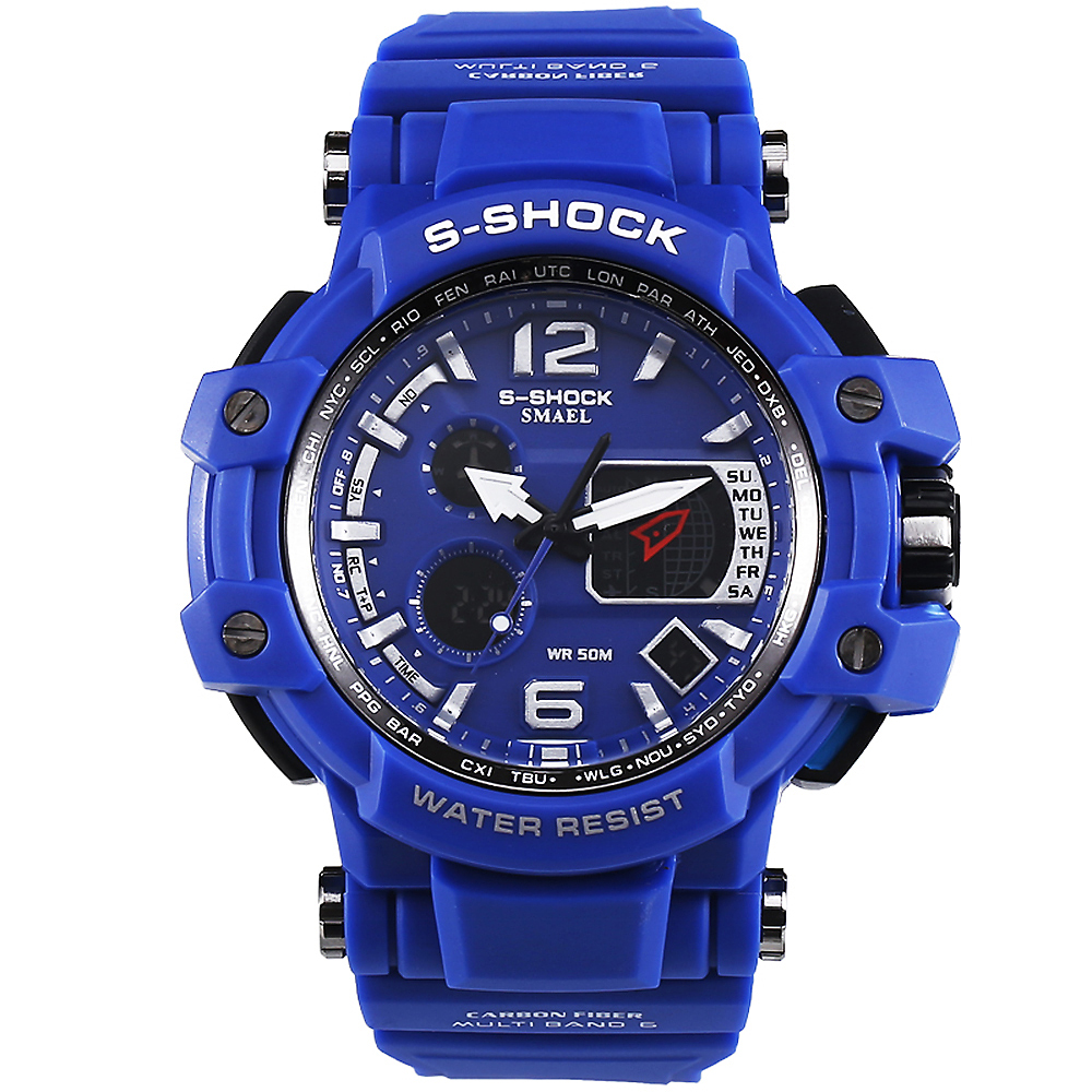 Relojes Hombre SMAEL 2016 S Shock Male Clock Mens Watches Top Brand Luxury LED Digital Wrist