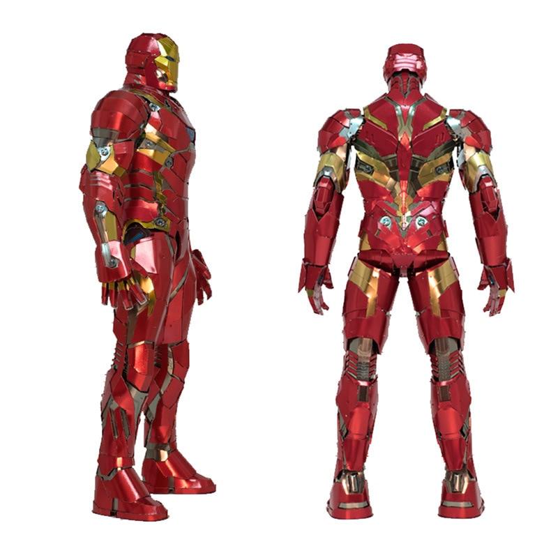 Personnalisé grande taille fer homme 3D modèle en métal Kits bricolage assembler Puzzle Puzzle construction jouet pour cadeaux