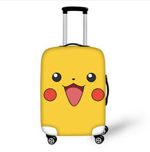THIKIN Travel Suitcase Protective Cover Anime Pokemon Pikachu Print Trolley Case Luggage Protection Case Travel Accessories Bags(China)