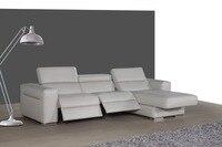 Lederen sofa set woonkamer sofa sectionele/hoekbank set meubelen banken functionele hoofdsteun L vorm recliner