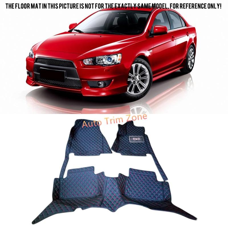 Interior Black Floor Mats & Carpets For Mitsubishi Lancer 2008-2015 interior black floor mats