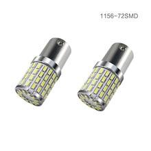 2pcs P21W LED 1157 1156 BA15S bay15d LED Bulbs t25 3156 3157 led Turn Signal Reverse Brake Light R5W 72smd 3014 led car 12-24v 3157 3156 11w 500lm 1 led 4 cob led white car brake light steering lamp 12 24v