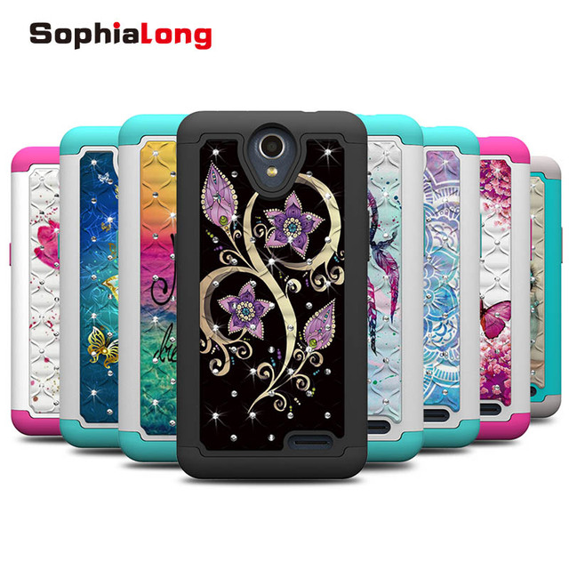 new arrivals f3560 67014 US $6.07 19% OFF|ZTE N9136 Prestige 2 Case Cover Rhinestone Phone Cases for  ZTE Maven 3 Prelude Plus Overture 3 Back Cover with Colorful Pattern-in ...