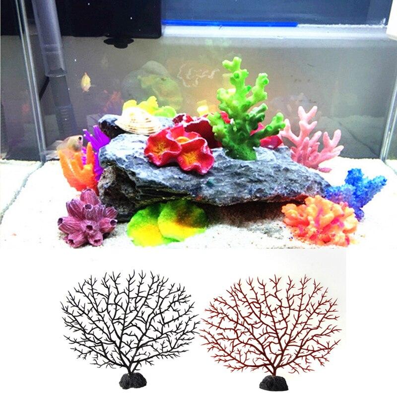 Simulation Künstliche Korallen Baum Aquarium Tank Dekoration Harz Weichen Ornament Drop Schiff Moderne Techniken