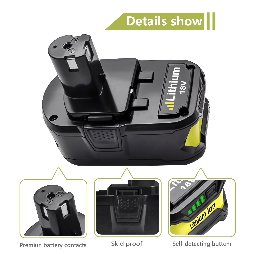 Image 5 - Bonacell 18V 4000mAh Li Ion P108 P 108 Rechargeable Battery For Ryobi Battery RB18L40 P2000 P310 for BIW180 L30-in Replacement Batteries from Consumer Electronics