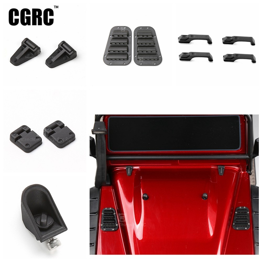 Rubber Hood Hinge Oil Tank Mouth Door Handle Plastic Intake Grille For 1/10 RC Crawler TRX4 RC4WD D90 D110 Axial Scx10