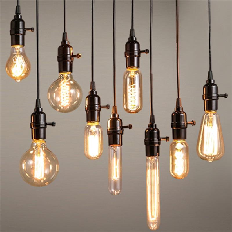 Kaigelin Retro Edison Light E14 E27 Incandescent Bulb ST64 G80 ...