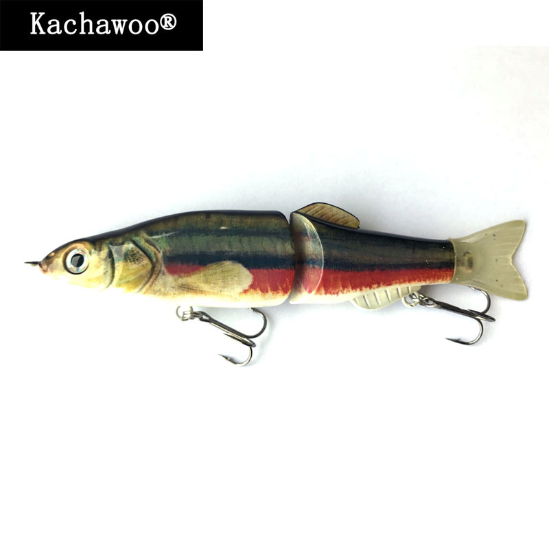 Glide Plastic Hard Lure S Swim Swimbait 19cm 68g 2 Section Jointed Artificial Bass Fishing Bait for Lake River Fish Slow Sinking