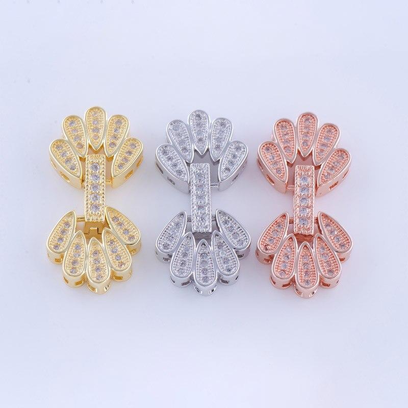 Fine Jewelry Bijoux Circón Forma de la Mano de Cobre Encanto De Pulsera Hecha A