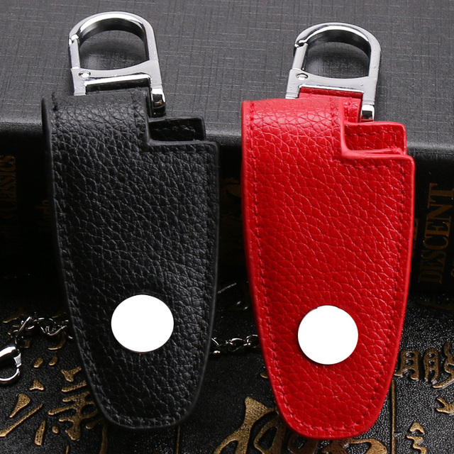 For Mercedes Leather Key Case Cover Bag For Benz Cla Clk Ml Slk W124 W210 W211Amg W203 Class For Benz Accessories Key Ring