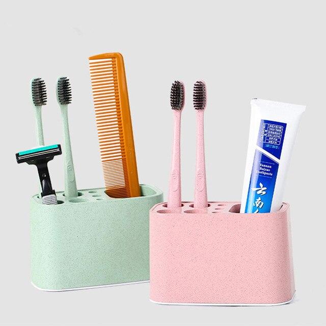 PP пластиковый органайзер для зубной щетки держатель с 4 отверстиями подставка для ванной комнаты подставка для зубной пасты коробка прочный домашние расчески Органайзер стойка