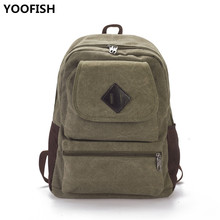 New Vintage Canvas Backpack Unisex Casual College Style Lady Student Bag Large Capacity Outdoor Travel Sports XZ-183.
