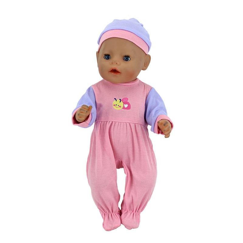 Fashion-Dolls-Jump-Suits-With-The-Hat-Fit-For-43cm-Baby-Born-Zapf-Doll-Reborn-Baby-Clothes-17inch-Doll-Accessories-3