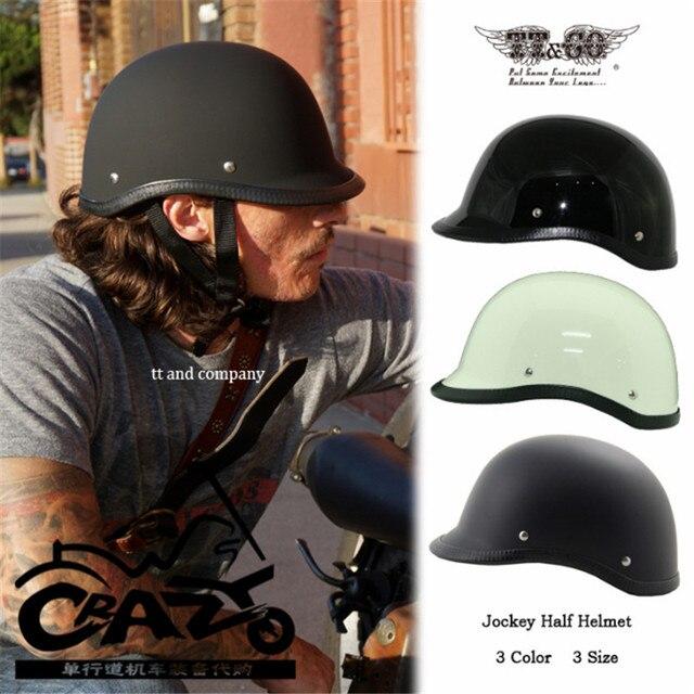 c594094b TT&CO Retro helmet Harley motorcycle helmet jockey half helmet Thompson  Brand Japanese summer cruise motorcycle motobike helmet-in Helmets from  Automobiles ...