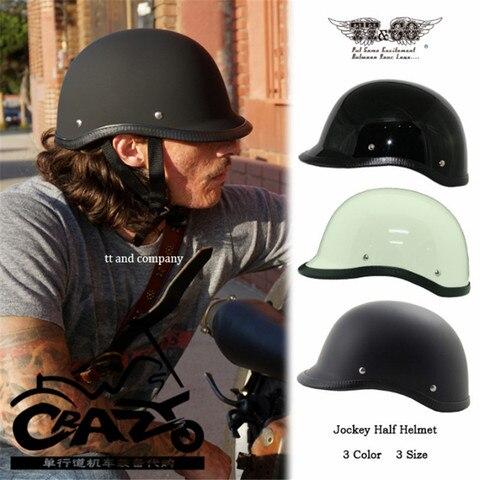 tt co retro jockey do capacete da motocicleta capacete meio capacete marca thompson japones verao