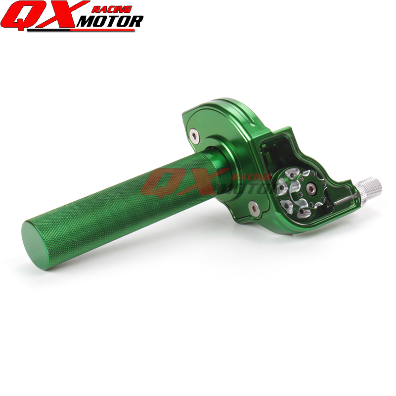 CNC Alloy Adjusterable Throttle Grip Quick Twister Anodized Green for CRF50 70 110 IRBIS 125 250 Dirt Bike Motorcycle Modified