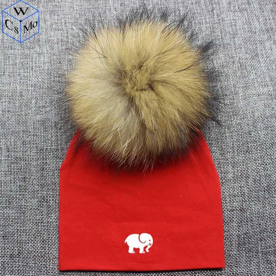 Letters Animal Print Baby Cotton Pom Pom Hat Newborn Hat Girl Boy 0-2Years Kids Children Toddler Infant Beanie Knit Cap