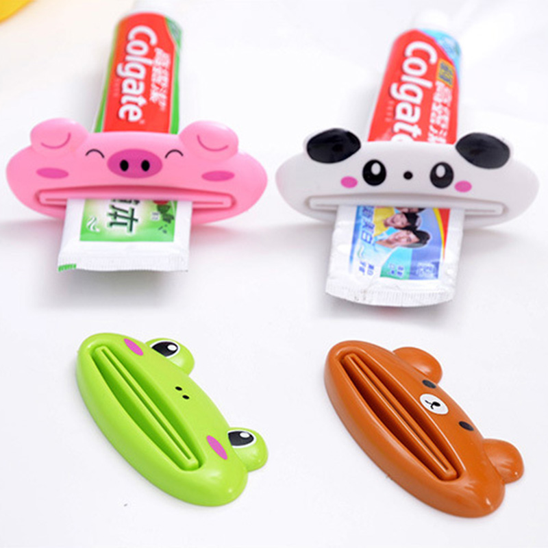 Lovely Animal Toothpaste Dispenser Cartoon Toothpaste Squeezer Tube Easy Squeeze Bathroom Accessories Distributeur Dentifrice