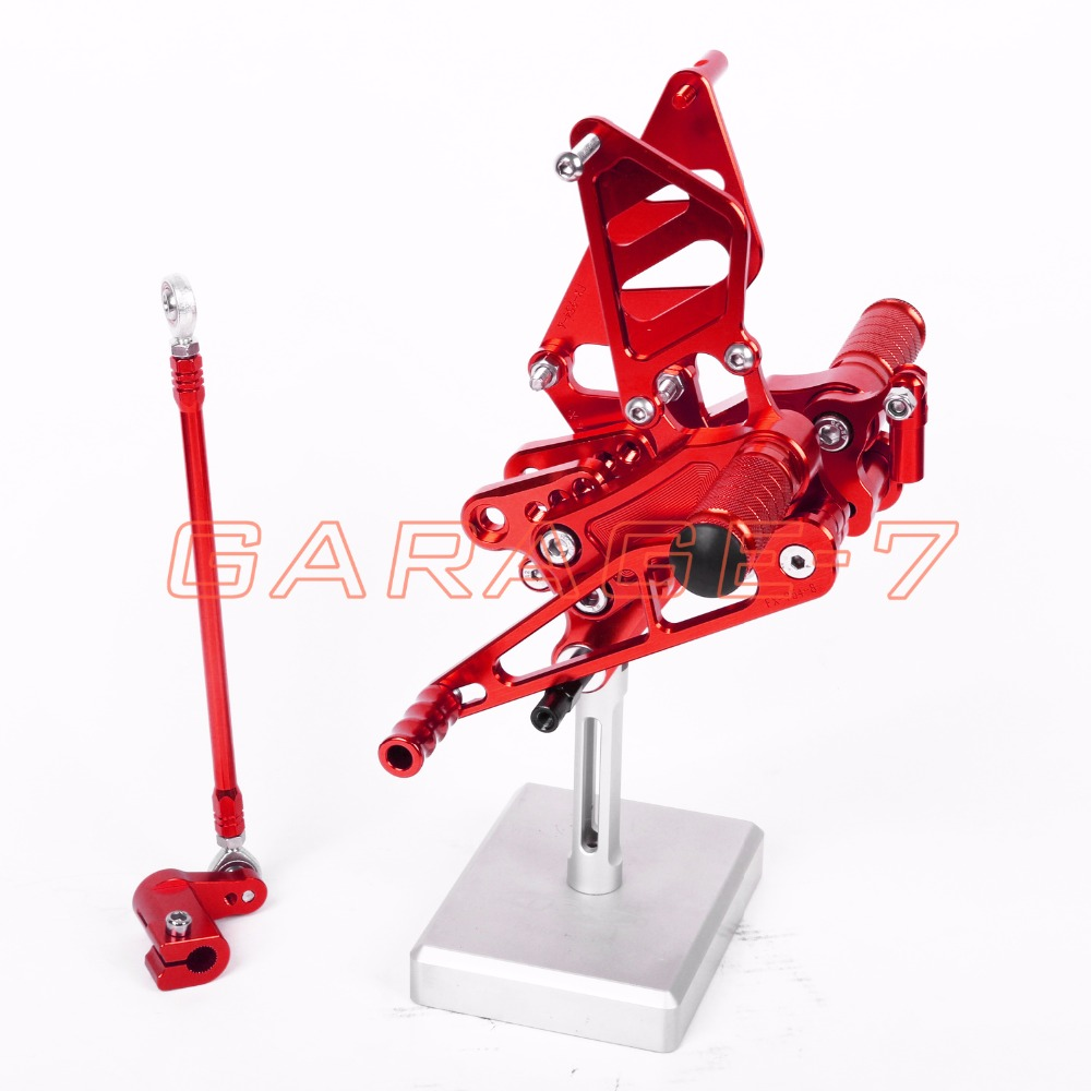A New 6061 Aluminum alloy Red CNC Rearsets Foot Rests Rear Set For HONDA CBR954RR 2002-2003 Hayabusa  Motorcycle Foot Pegs