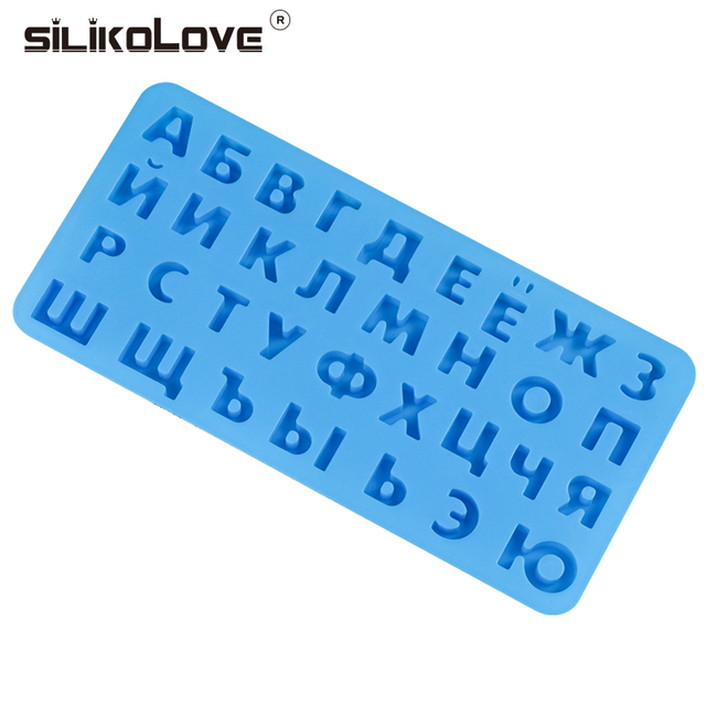 Russian Alphabet Silicone Mold Letters Chocolate Mold 3d Cake Decorating Tools Tray Fondant Molds Jelly Cookies Baking Mould