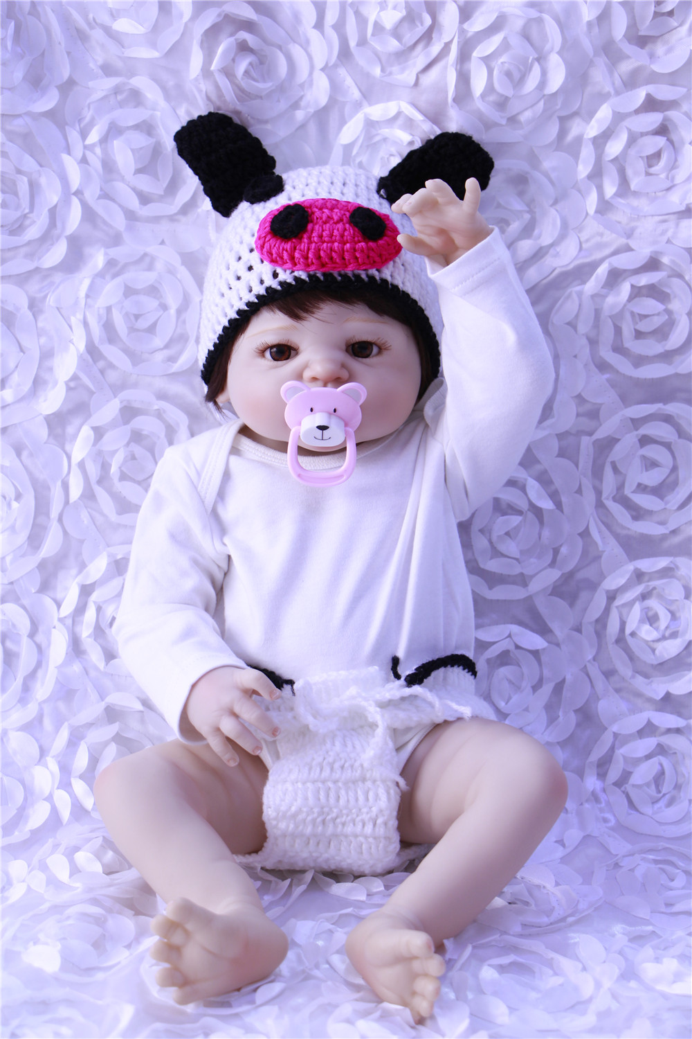 Full Silicone Vinyl Reborn Baby Doll Realistic Girl Babies Dolls 23 Inch 57 cm Lifelike Princess Kids Toy Children Birthday GiftFull Silicone Vinyl Reborn Baby Doll Realistic Girl Babies Dolls 23 Inch 57 cm Lifelike Princess Kids Toy Children Birthday Gift