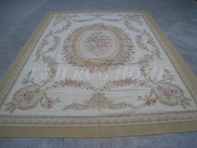 Free shipping  9x12  French Aubusson woolen rug, French Aubusson Carpet for Home Decoration, 2015 New DesignFree shipping  9x12  French Aubusson woolen rug, French Aubusson Carpet for Home Decoration, 2015 New Design