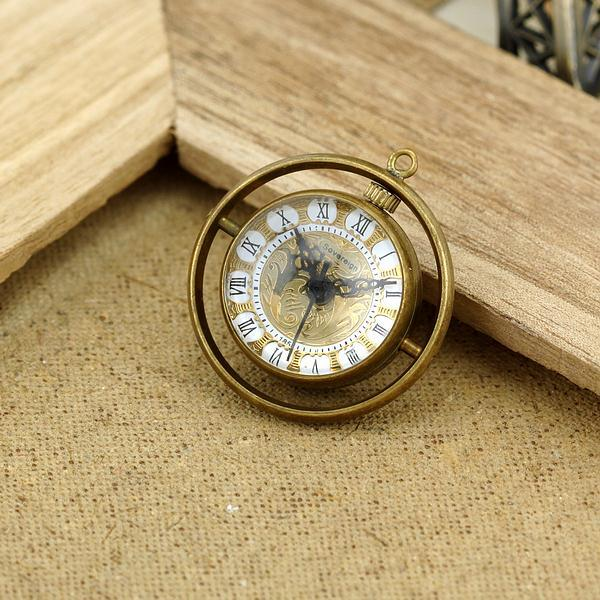 2015 Classic Steampunk crystal ball fisheye Men Women mechanical pocket watch