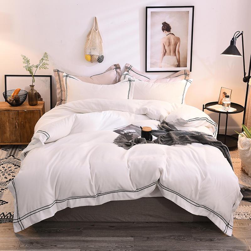 100 Cotton Sanding Warm Duvet cover set Softest Bedding Set Resistant Rubber Bed Fitted sheet Queen