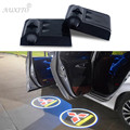 2X Car LED Door Projector Light Ghost Shadow Light For Mitsubishi asx lancer 10 outlander 2013 pajero l200 Expo colt Logo