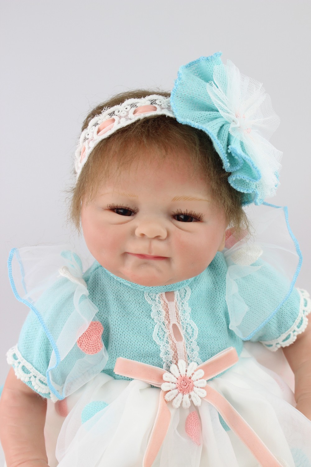 NPKCOLLECTION reborn doll lifelike reborn baby doll wholesale soft real touch baby dolls Christmas gift for children short curl hair lifelike reborn toddler dolls with 20inch baby doll clothes hot welcome lifelike baby dolls for children as gift
