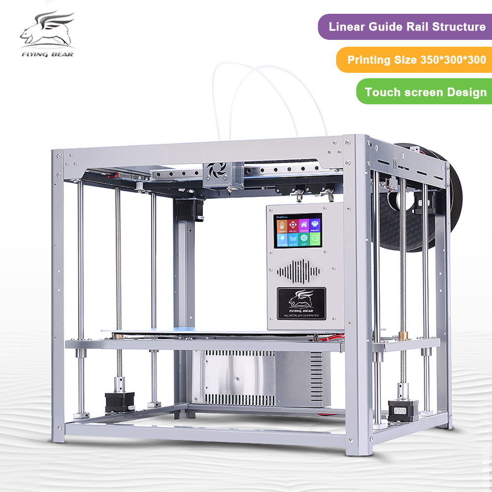 Free shipping Flyingbear Tornado large 3d Printer DIY Full metal Linear guide rail High Quality Precision double extruder toothed belt drive motorized stepper motor precision guide rail manufacturer guideway