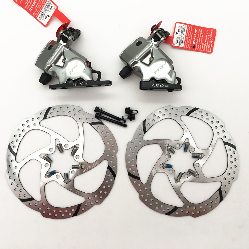 TRP HY RD Flat Mount Cable Actuated Hydraulic Disc Brake Front Rear 160mm w or w