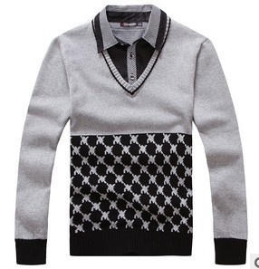 2013 men sweater brand men knitted cardigan round neck fashion sweaters men spring and autumn color block decoration casual D055