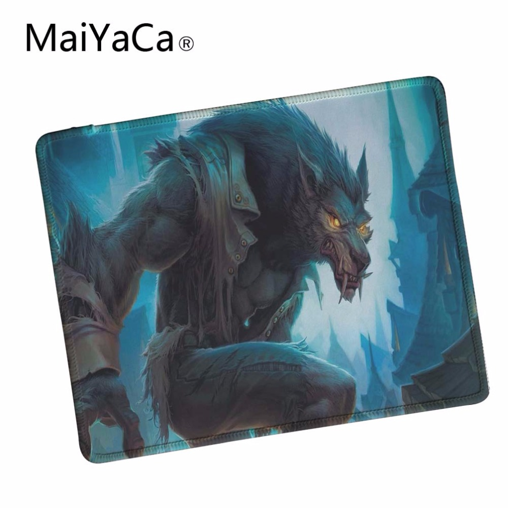 MaiYaCa Werewolf Hd Wallpaper Computer Mouse Pad Mousepads Decorate Your Desk Non-Skid Rubber Pad Lock Edge Mouse Pad