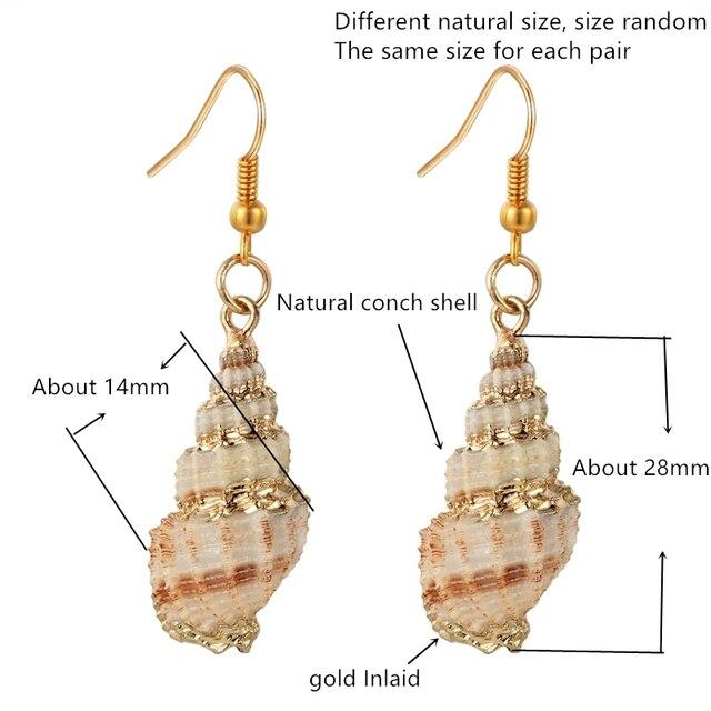Купить женские серьги раковины janeyacy модные из натурального для картинки