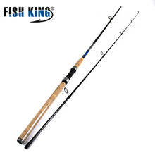 FISH KING 99% Carbon 2.1M 2.4M 2.7M C.W 3-40G 2 Section Soft Lure Fishing Rod Lure Spinning Fishing Rod For Lure Fishing