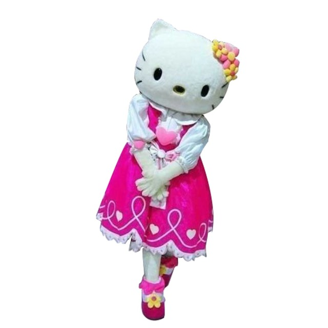 Adult size Hello kitty Mascot costume cat mascots  cosplay costumes Free shipping