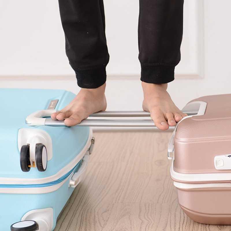 Новый 2019 чемодан из АБС-прокатки ручной Багаж 4 вращающийся Спиннер тележка сумка дорожная сумка Hardside 20 22 24 26 дюймов багажная сумка