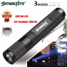 skywolfeye Mini 3000LM Zoomable CREE Q5 LED Flashlight 3 Mode Torch Super Bright Light Lamp L61219 lanterna drop ship