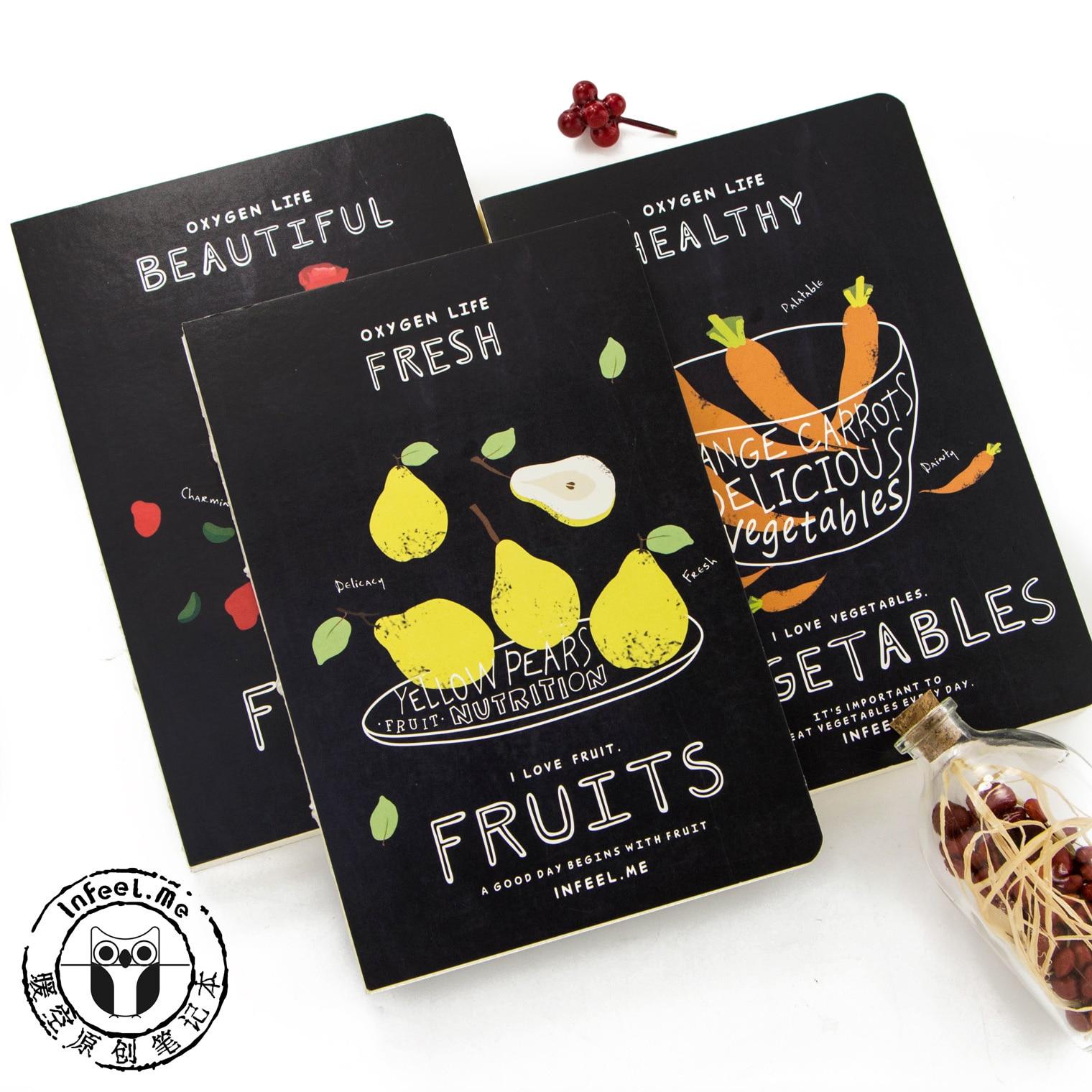 Oxygen Life Beautiful Flower Vigorous Succulent Healthy Vegetables Fresh Fruits Notebook Agenda Personal Diary Book Gift цены онлайн