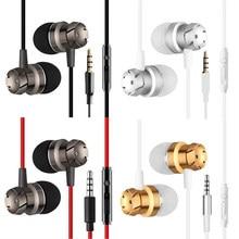 Спортивные наушники-вкладыши с микрофоном 3,5 мм, проводная стереогарнитура, наушники-вкладыши для Mp3 плеера, iPhone, Xiaomi, мобильного телефона